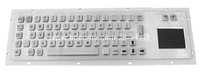 Industrial Stainless Steel Metal Kiosk Keyboard with Touchpad KB6G
