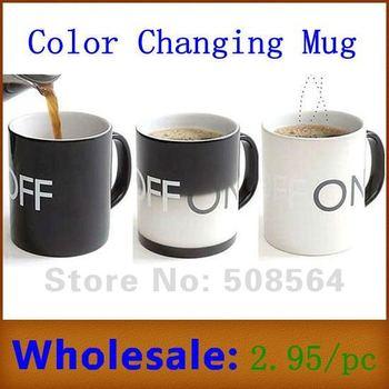Magical ON OFF Coffee Mug Color Changing Mug Temperature Sensor Chameleon Cup