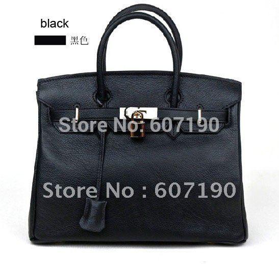 Elegant bags women, genuine leather designer inspired bag,brand handbag ,super star BK35CM bag,8034(China (Mainland))