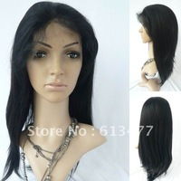 (free shipping + top quality )2#20inch yaki stright wave 100% indian human wigs Front Lace Wig glueless Wig ys020