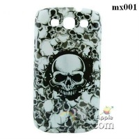 Free Shipping 1Pcs Original Scare Skull case s3 Skeleton Hard Back Plastic Case For Samsung Galaxy S3 i9300