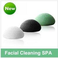 New Arrival! 5Pcs/Lot 100% Cotton Sponge 3 colors Facial cleanser product face wash scrub Free Shipping BM0004