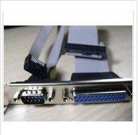 10pcs Printer interface 25 LPT parallel lines + 9-pin serial COM lead