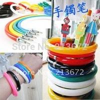 Wholesale&Retail Bracelet Pen Wrist Pen Deformable Flexible Pen Promotion Bracelet  Fashions Style More Color Choose 10pcs/Lot