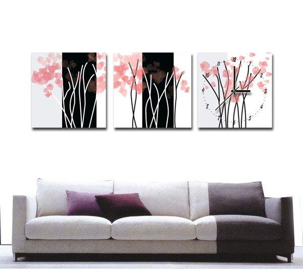 Factory price DHL Free shipping,(20set/lot ),Fashionable household adornment Wu kuang painted Wall Clock,Art Clock ,10 Type(China (Mainland))