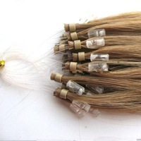 Factory wholesale 100% Chinese remy hair good price brown color loop hair extension