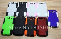 Mesh Hole Hard Silicone Case Cover For SAMSUNG Galaxy S3 i9300 Combo Hard back Plastic case 50pcs lots