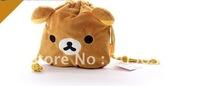 Gift san-x coins bag rilakkuma stuffed bag 20cm size big one free shipping 20pcs