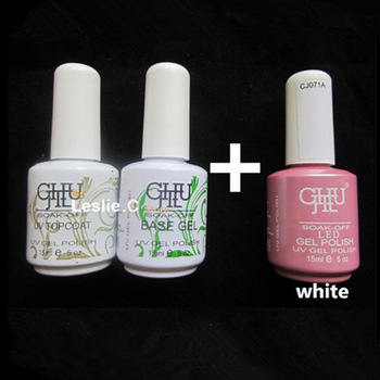 Free Shipping  2012 Lastest Edition  15ml Soak-Off Nails UV Gel (1 Base Coat & 1Top Coat)+1 pc gel polish 220 Colors Available