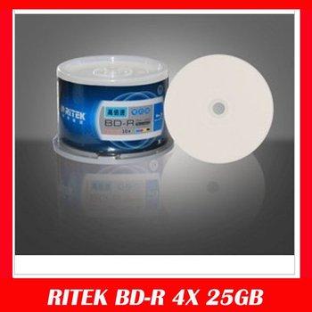 Brand Quality RITEK BD-R 4X 25GB Blu-ray Disc BDR 10pcs/Pack Free shipping