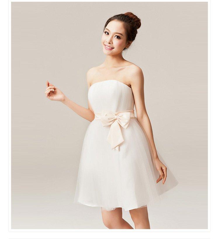Hot sale!Fashion nude strapless lady/princess mini dress/gown ,Wedding Bride ...