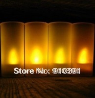 FREE SHIPPING,single fire yellow light sonic voice control electronic candle,smokeless led candle,flameless candle.