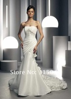 2012 New Sheath Style  Evening Wedding Dress Prom Custom Made Size 6-8-10-12-14  #N611