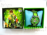 Free Shipping Brand New  Ben 10 Wristwatches children cartoon  watch with Gift box
