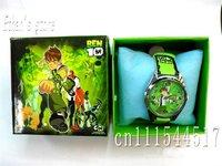 Hotsale!! Ben 10 kids watch children Wristwatches  with Gift box 10pcs/lot +Free Shipping