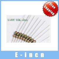 1000PCS Resistors 10K Ohms OHM 1/4W 5% Carbon Film,free shipping