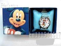 New Mickey Mouse Kids Quartz Steel Wrist Watch lots  with Gift box 20pcs/lot +Free Shipping