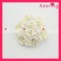 wholesale rhinestone enamel button for wedding bouquet free shipping WBK-1243