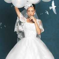 Lace royal princess bride short-sleeve butterfly sleeve thin 2012 new arrival 9960