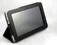 "Leather Case with Kick Stand for 7"" Android Tablet Ainol Novo 7 Aurora Elf Advanced  Paladin all versions"