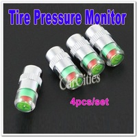 2.4 bar Free shipping,(4pcs/set) Tire Pressure Monitor Indicator Valve Stem Cap Sensor 3 Color Eye Alert,Pressure Tester for car
