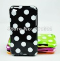 Polka Dot Soft TPU Case Cover For iPod Touch 4, Wholesale Free Shipping 200pcs