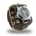 Free fast shipping Cheap wrist watches for men with brown leather band Analog Quartz Fashion Wrist Watch Bracelet PI0236