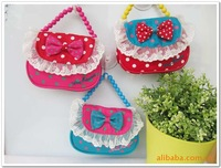 $15 off per $150;3pcs/lot,2012 hot sale baby ,princess purse,girls handbags ith bowknot,baby bag wholesale BH-1
