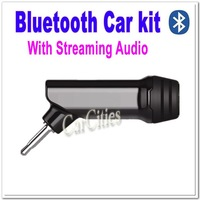High Quality Mini Bluetooth Handsfree & Streaming Audio Car Kit,portable car kit,Wholesale + Free shipping