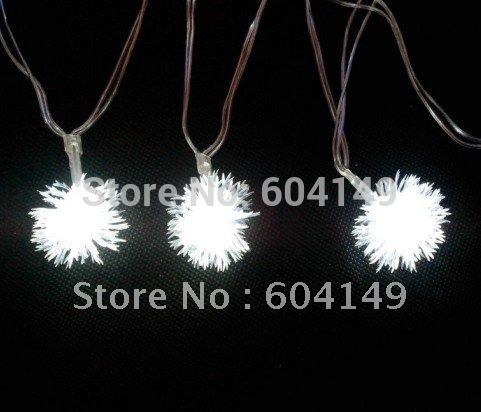 String Lights Decoration Lights 4M 40 LED Snowflake Or Star Bulbs 5pcs/lot Free shipping(China (Mainland))