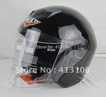Motorcycle helmet/Jet helmet/Open face retro 3/4 half helmet /glorious black/free shipping
