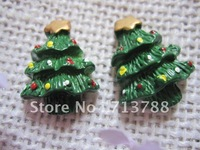 flat back resin Christmas tree for phone decoration 30pcs/lot