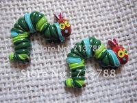 flat back resin hungry caterpillar for phone decoration 12pcs/lot