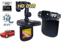 "1280*720p 30fps Car DVR 4 Led Lights car video recorder 2.5"" TFT LCD 720P HD Car Camera +4X Digital Zoom+TV OUT+ Night Vision"