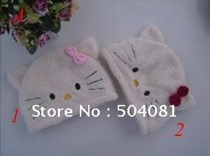 Christmas Cartoon Hats Animal Caps Party Winter Birthday soft Plush Headgear Totoro kitty domo Rilakkuma Panda bear Novelty Toy