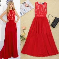 HOT!HOT!HOT!New In Europe Celebrity Fashion Lace Maxi Dress SS12357 Luxurious Sexy Long  Dresses Free Shipping Wholesale