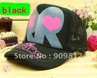 Free Shipping  Plum flower peach heart RR truck cap, Hip-hop hat, Mesh caps, Snapbacks hats, 2 color available 50pcs/lot