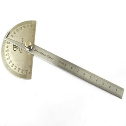 Free shiping,Stainless Protractor Round Head Angle Finder Craftsman Rule Ruler Machinist Tool(China (Mainland))