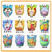 wholesale Free shipping ! Kids wear,hot sale brand PVC baby bibs Baby rice bib waterproof plastic bib