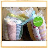 wholesale free shipping  100% cottn Carter baby's towels baby bib infant feeding towel santa washcloth