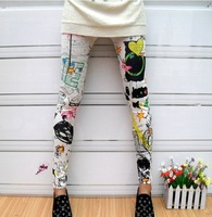 High quality colorful Graffiti Style Sexy Women Girls Soft Stretchy Leggings Tights Pants,dropshipping