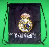 Real Madrid FC Soccer Kitbag Backpack GYM Drawstring Training Bag Black
