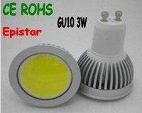 Ultra bright LED GU10 COB 3W LED Spot lamp 85V-265V Warm White light with 1 leds 120 degree Free shipping