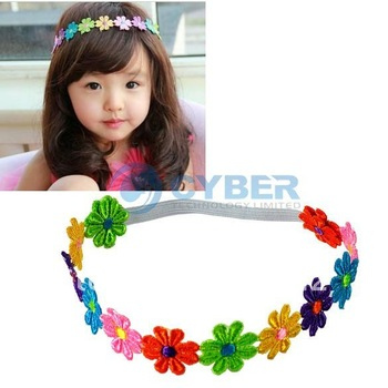 Cute Headdress Princess Lace Flower Hair Band Sets Elasticity Baby Headband