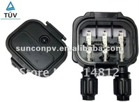 solar power junction box  (box body + 600mm 4 mm2 pv cable+MC4 connectors)