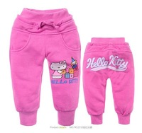 Free Shipping,Wholesale 6pieces!2012 NEW! Hello Kitty pants,girls cartoon trousers,cotton long pants,children cartoon pants