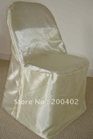 ivory  satin  folding Chair Cover/banquet chair cover/wedding chair cover