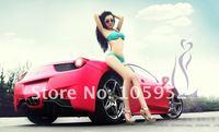 DHL free shiping fashion One-shoulder  original  design  green fold sexy bikini  bathing suit  swimwear  wholesale 5pcs/lot