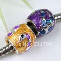 5pcs Mix Enamel Snake Alloy Big Hole Bead Fit Charm European Bracelet