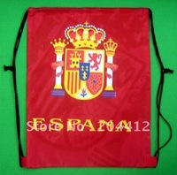 Spain Espana Soccer Team Kitbag Backpack GYM Drawstring Training Bag Red